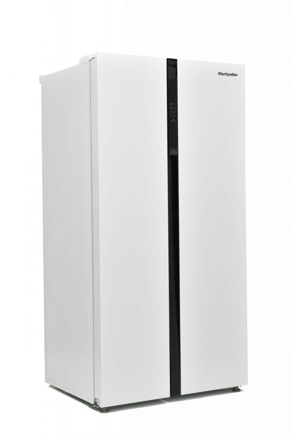 Montpellier M510BW Side-By-Side Fridge Freezer