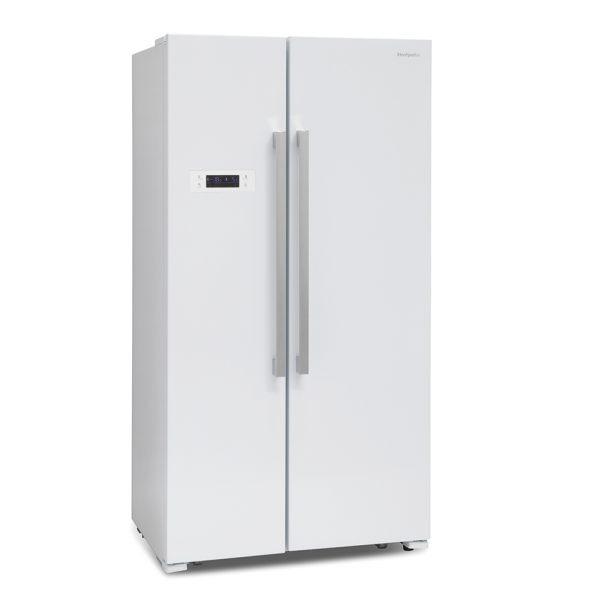 Montpellier M605W Side-By-Side Fridge Freezer
