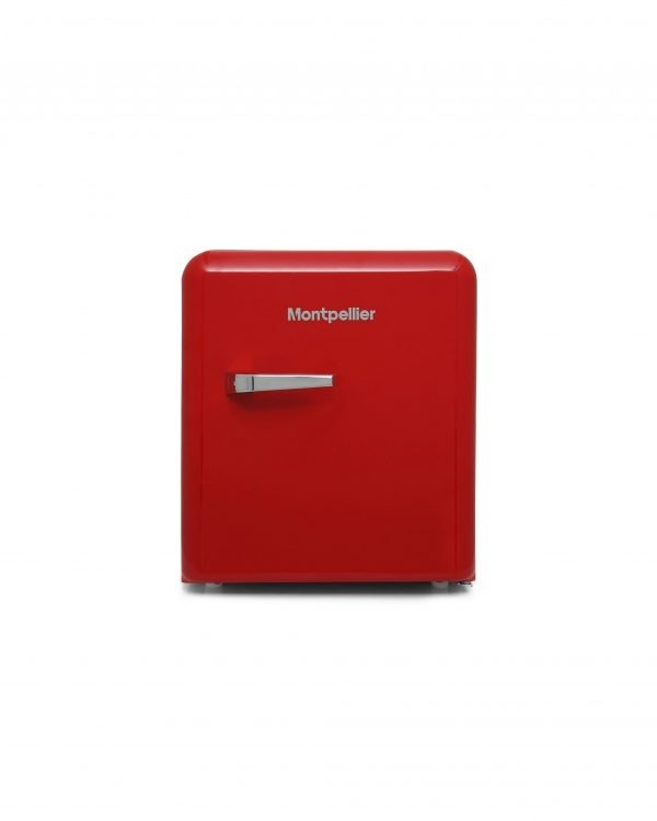 Montpellier MAB50R Table Top Retro Fridge – Red