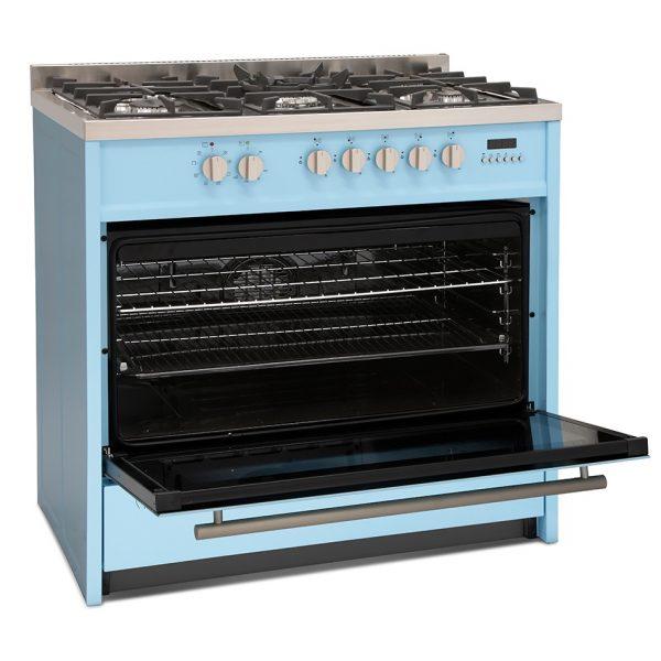 Montpellier MR95DFPB Dual Fuel Range Cooker 8