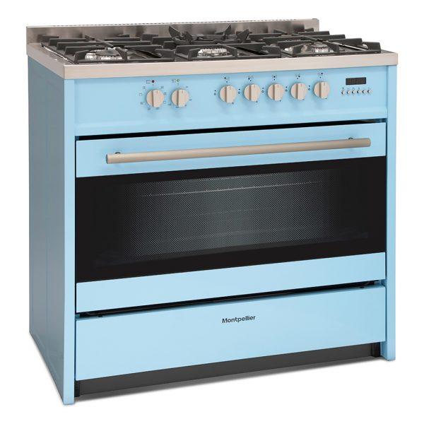 Montpellier MR95DFPB Dual Fuel Range Cooker 1