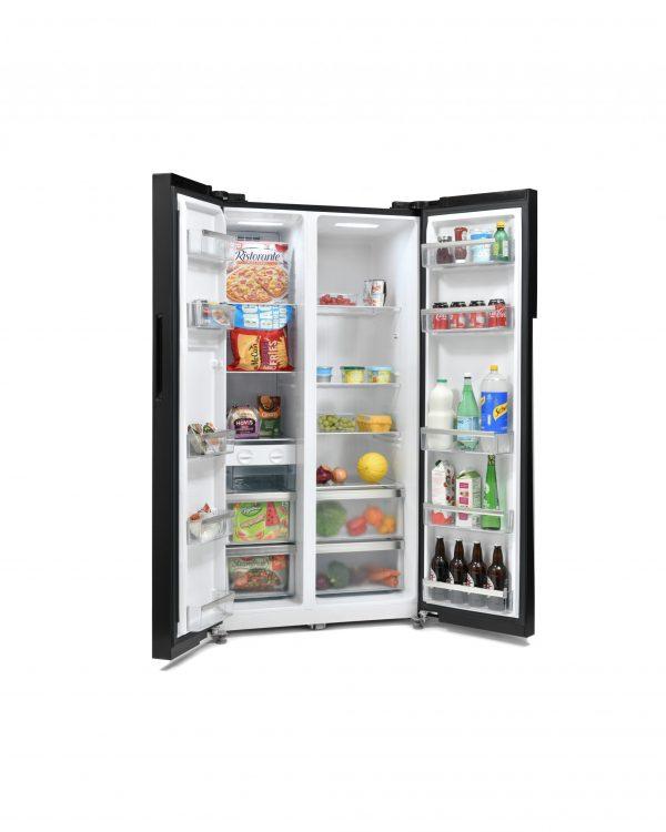 Montpellier M510BK Side-By-Side Fridge Freezer 1
