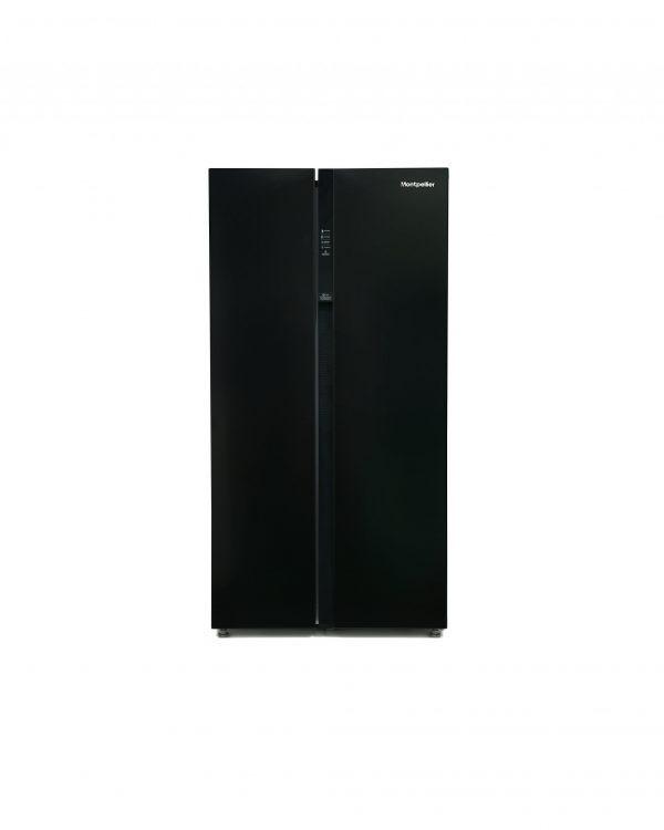 Montpellier M510BK Side-By-Side Fridge Freezer 2