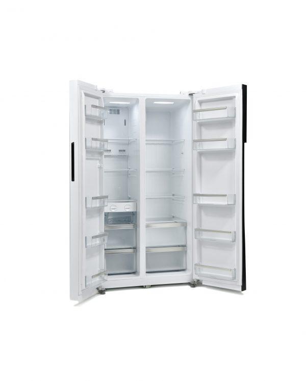 Montpellier M510BW Side-By-Side Fridge Freezer 1