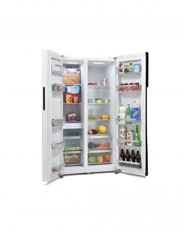Montpellier M510BW Side-By-Side Fridge Freezer 2