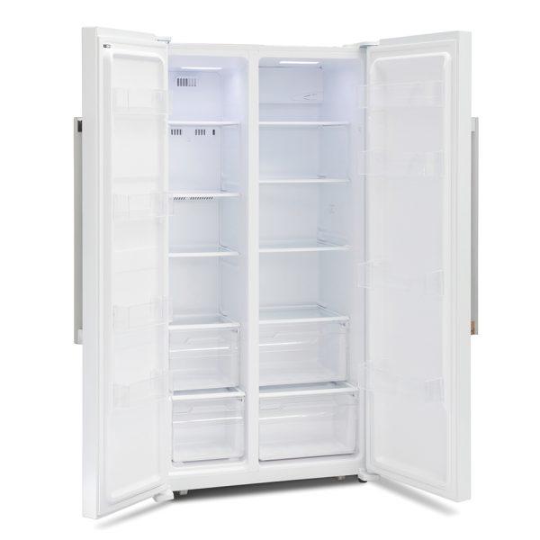 Montpellier M605W Side-By-Side Fridge Freezer 3