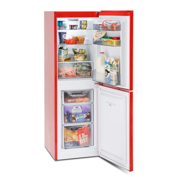 Montpellier MAB148R Retro Fridge Freezer 1