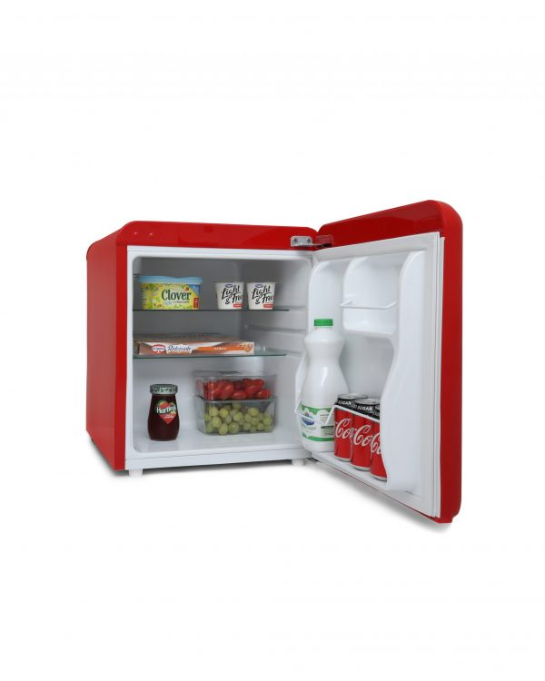 Montpellier MAB50R Table Top Retro Fridge – Red 1