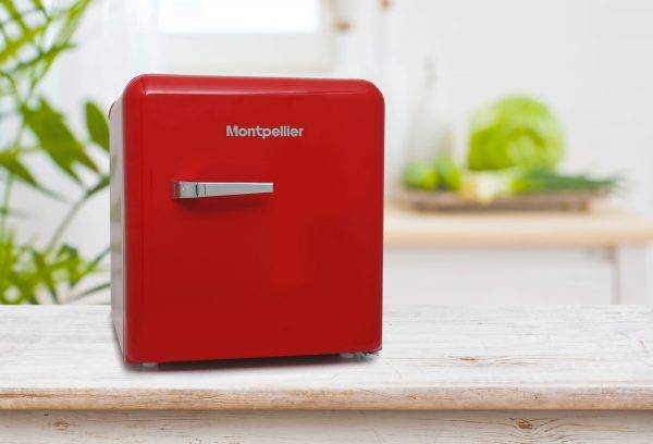 Montpellier MAB50R Table Top Retro Fridge – Red 3
