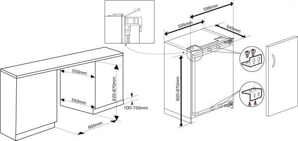Montpellier MBUF300 Built-Under Freezer 3