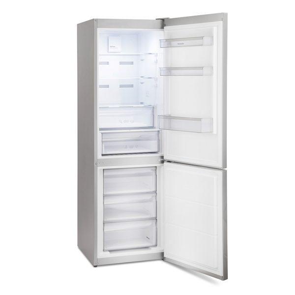 Montpellier MFF186ALX No Frost Combi Fridge Freezer in an Inox Look 3