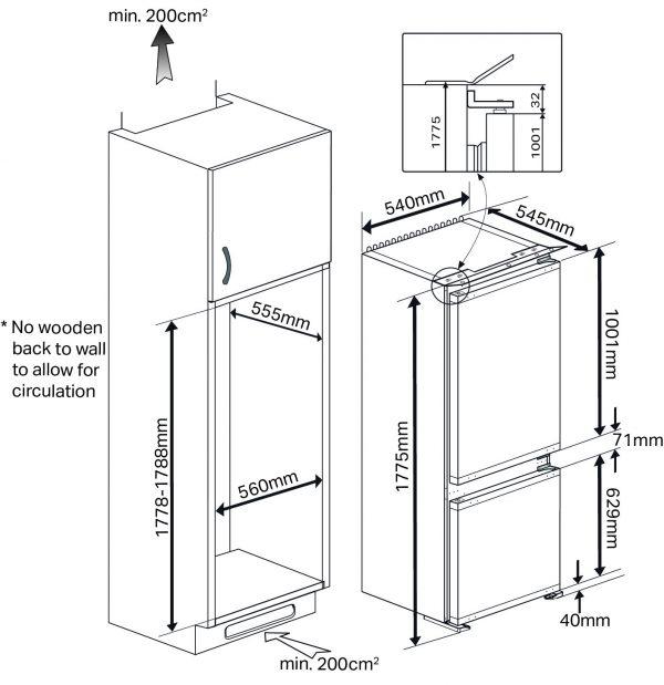 Montpellier MIFF701 Integrated Fridge Freezer 3