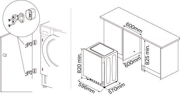 Montpellier MWDI7555 Integrated Washer Dryer 2