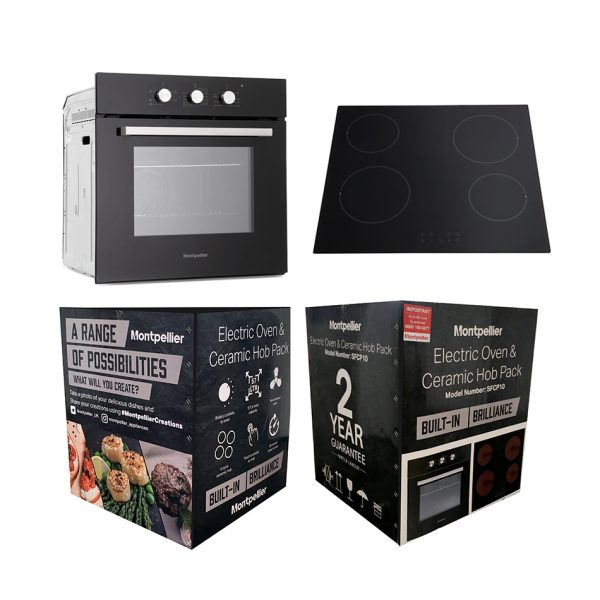 Montpellier SFOP94MFGG Integrated Oven & Hob Pack Cooking 5
