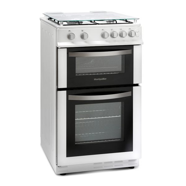 Montpellier MDG500LW 50cm Gas Double Oven