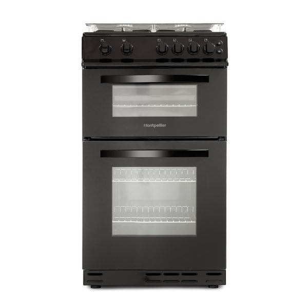 Montpellier MDG500LK 50cm Gas Double Oven 1