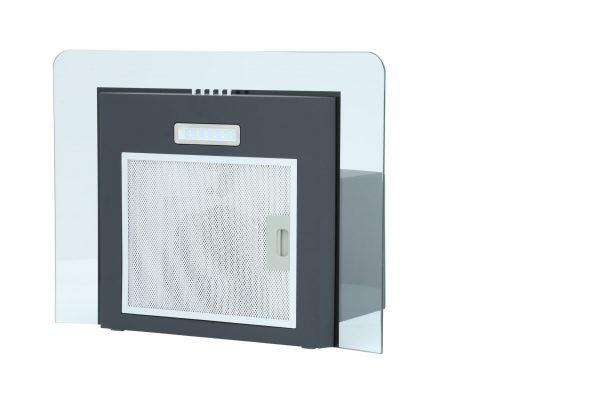 Montpellier MHG600BK Glass Chimney Hood 1