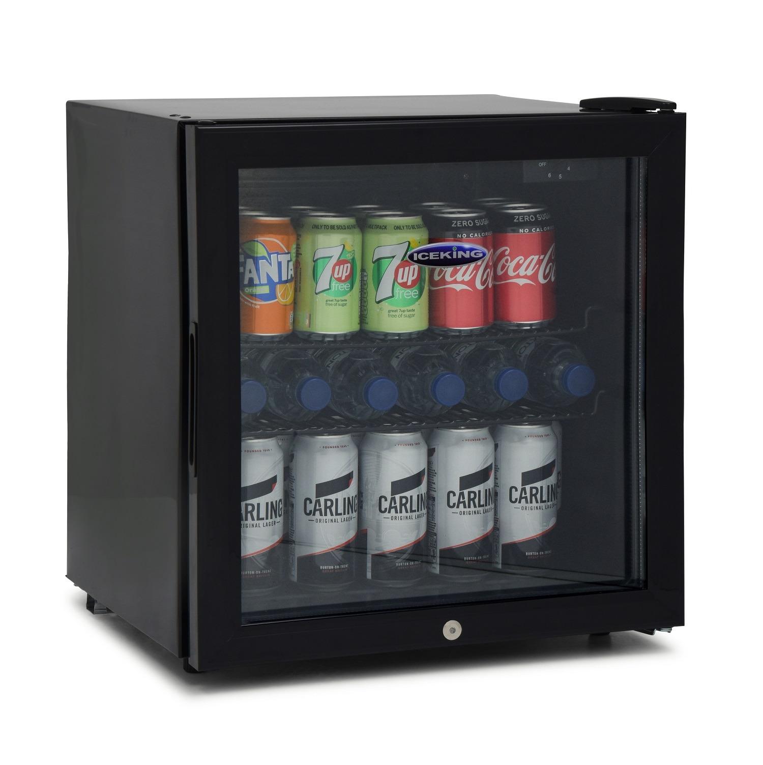 IceKing DF48K 49 Litre Table Top Mini Drinks Fridge Black