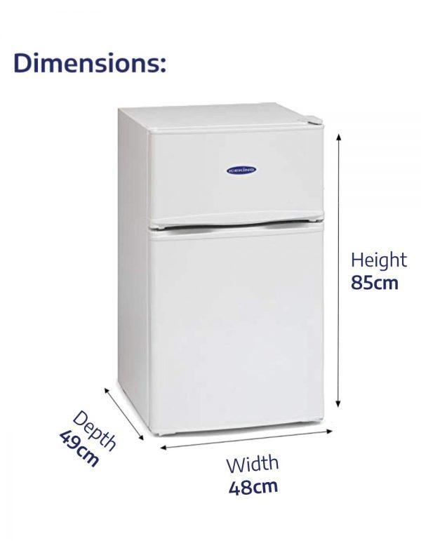 IceKing IK2023W 48cm Undercounter Fridge Freezer 2